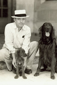"J.L. ""Tommy"" Constant, with his dogs in 1934"