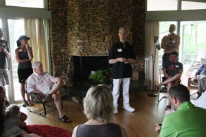 Thomas House gathering with architect Jerry Williams, June 2014