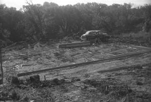 Laying foundation, June 25, 1955