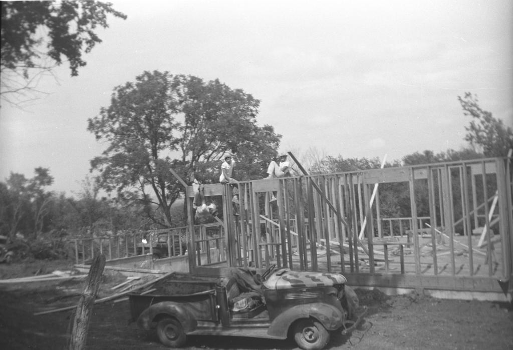 Taking a break, July 1955