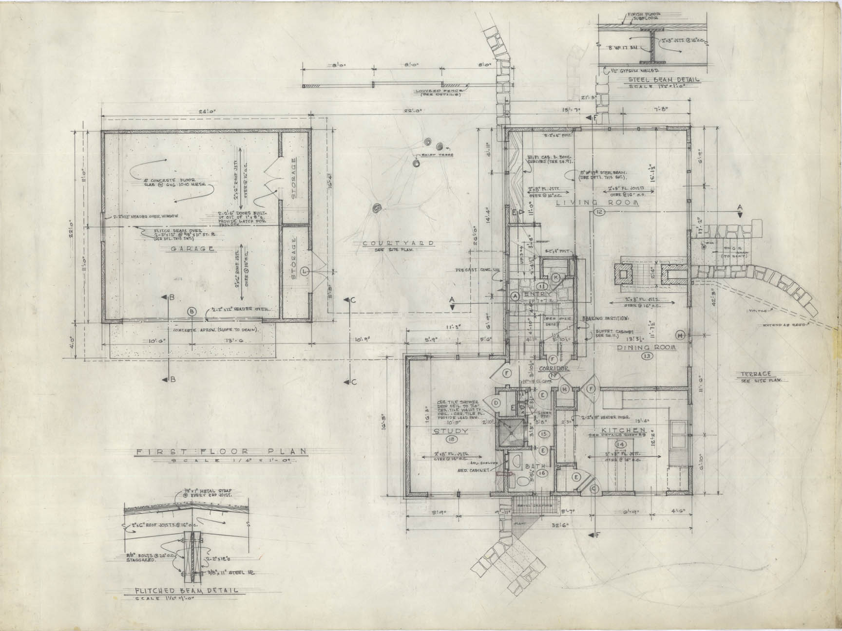 architectural drawings. First-floor Plan Architectural Drawings 8