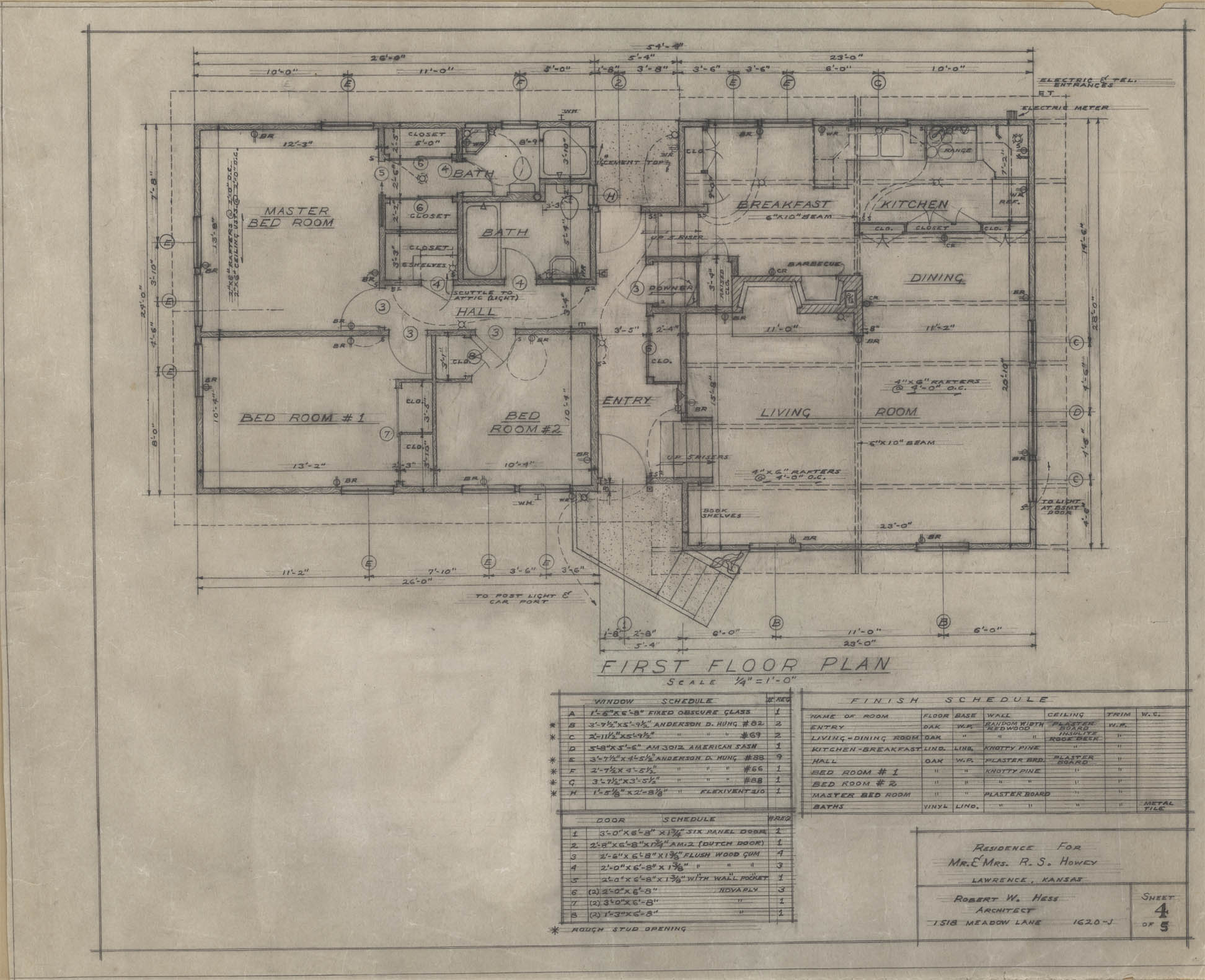 Architectural Plans (click Images To Expand) « Lawrence