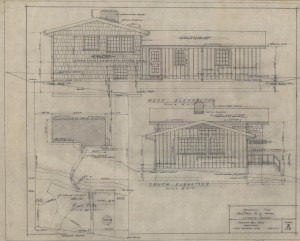 West-south elevations and plot plan