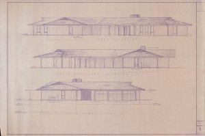 West-south-north elevations