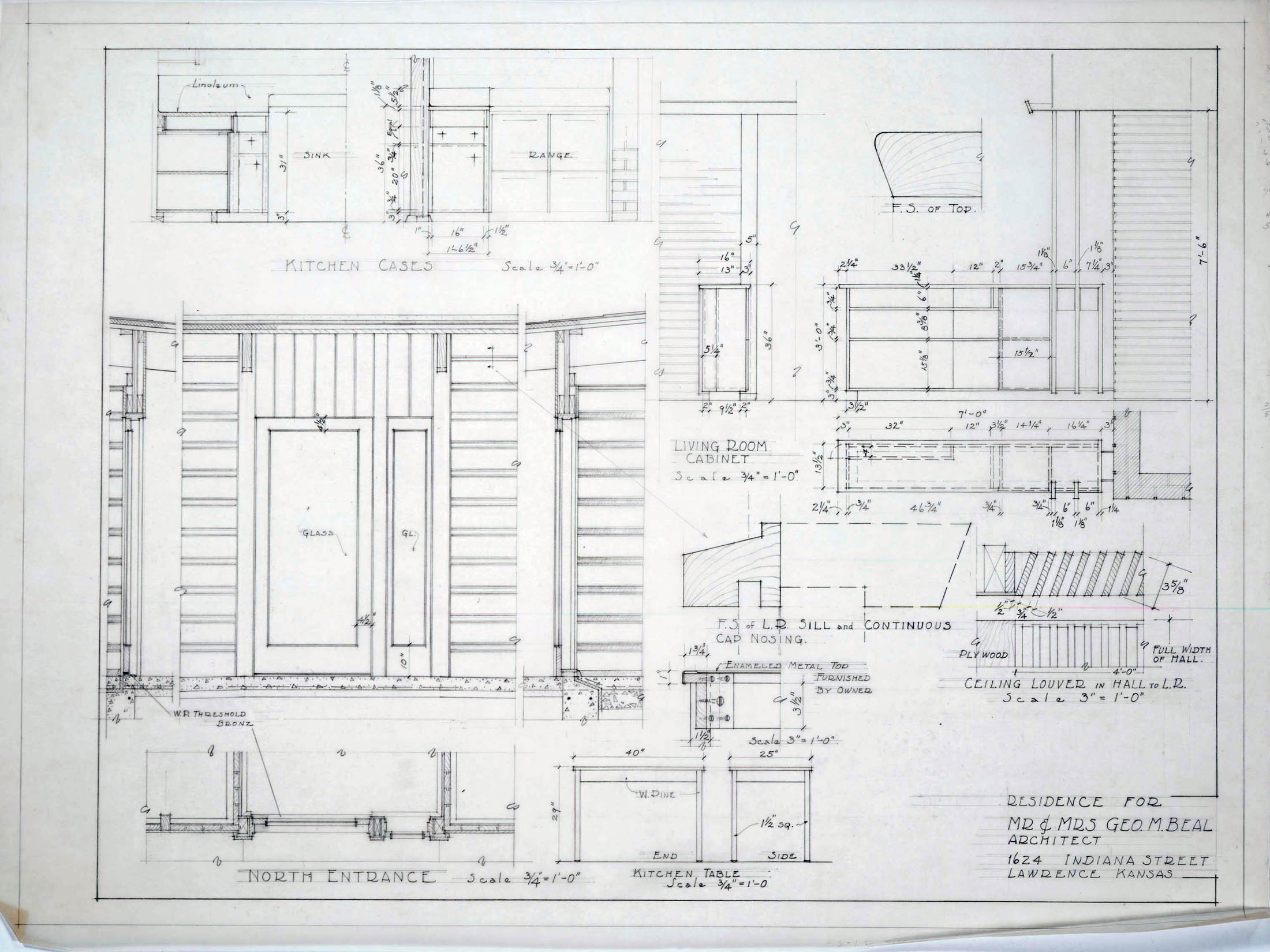 Kitchen Cabinet Construction Drawings : Architectural drawings click images to expand « lawrence