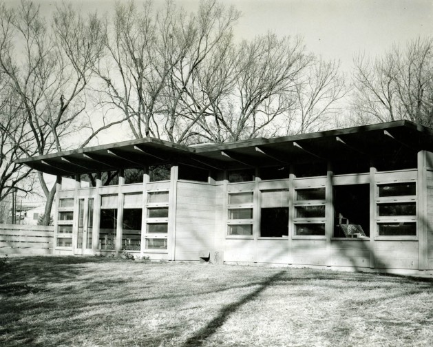 South elevation, spring 1952