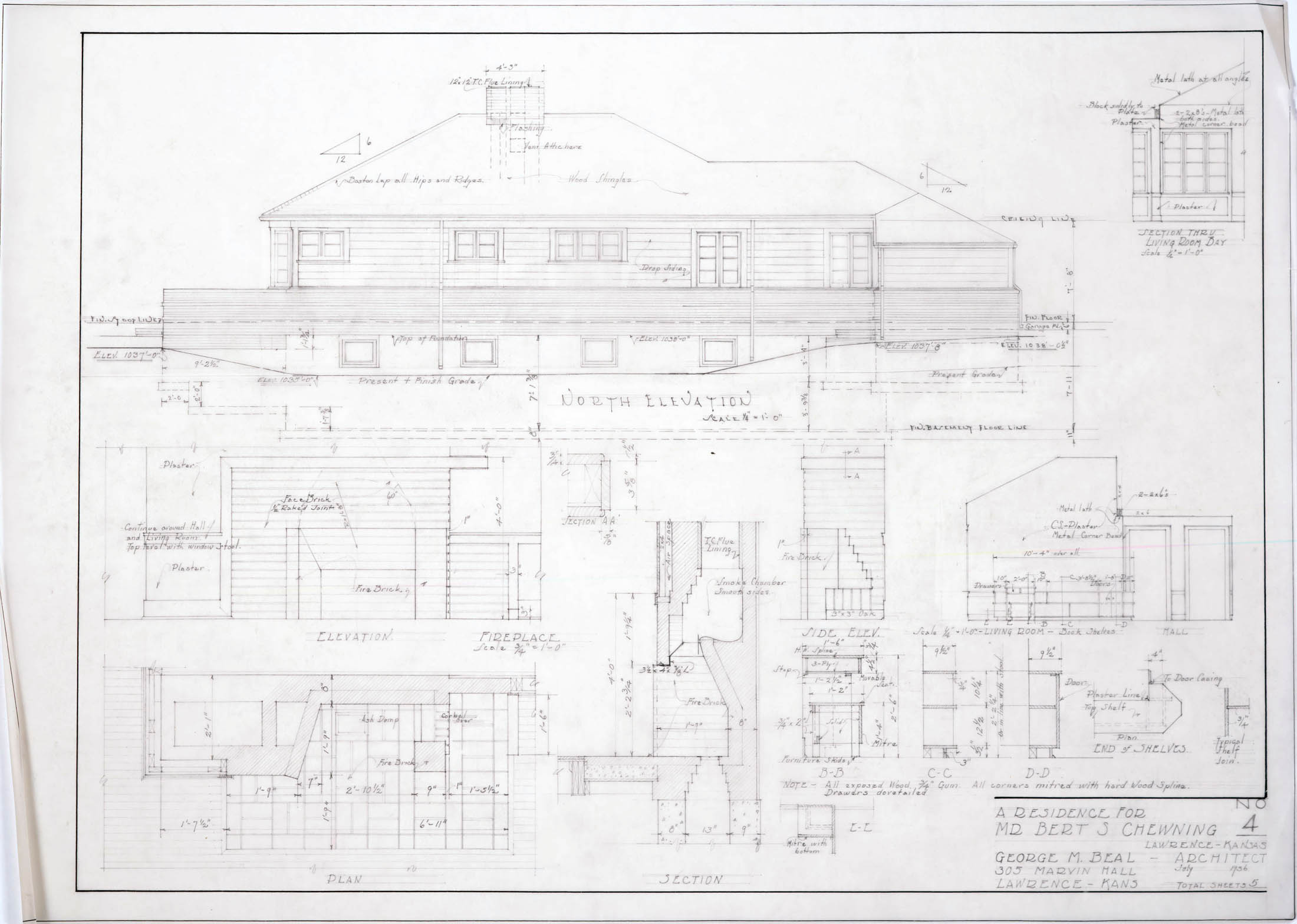 North N Home Plan And Elevation : Architectural plans click images to expand « lawrence