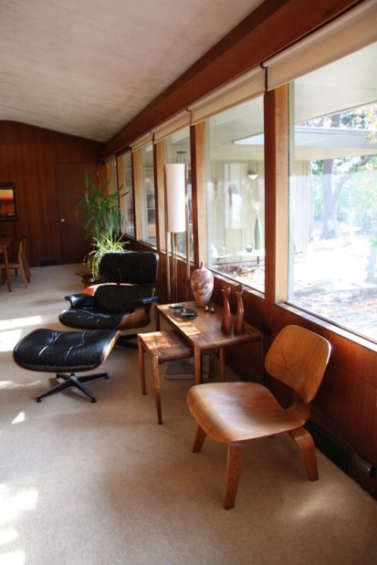 Eames 670/671 Lounge Chair and Ottoman & plywood lounge chair