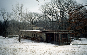 """Farm house"" designed by Alfred Caldwell, Bristol, Wisconsin 1948"