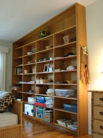 Built-in bookshelving