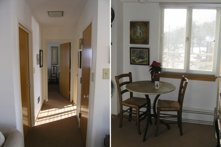 Sprague Apartments hall and dining nook