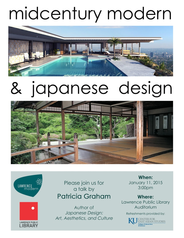 midcentury design talk flyer - Patricia Graham